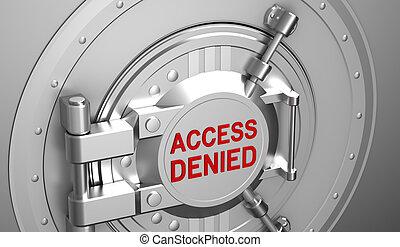 Access denied, safe door of the bank