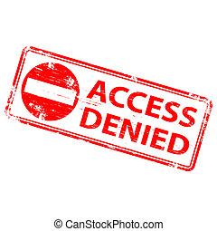 "Access Denied Stamp - Rubber stamp illustration showing ""..."