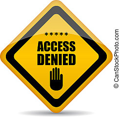 Access denied vector sign