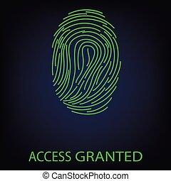 Access granted fingerprint