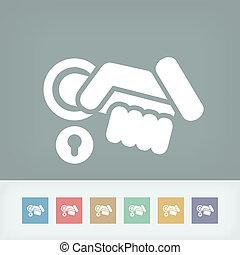 Access handle icon concept