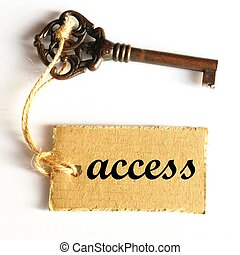 access or login concept with old key