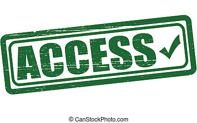 Access - Stamp with word access inside, vector illustration