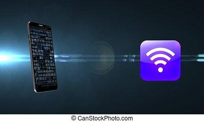 access., téléphone sans fil, connecté, internet., wi-fi