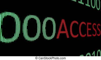 Access text over binary data