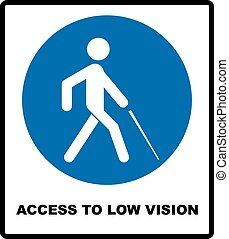 Access to Low Vision symbol. blindness line icon, outline vector logo illustration, linear pictogram isolated on white. Disabled sign for public places and web