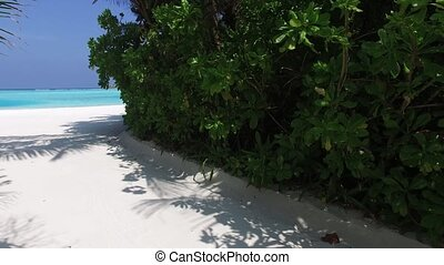 access to sea on maldives beach - travel, tourism, vacation...