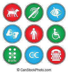 accessibilité, icônes