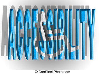 accessibilité, illustration, lettres