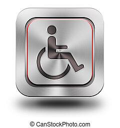 Accessibility aluminum glossy icon