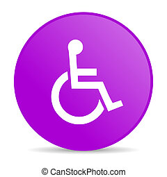 accessibility violet circle web glossy icon - pink circle...