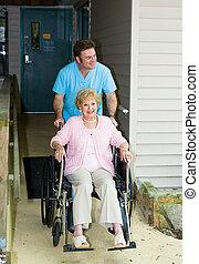 accessible, maison, -, soins