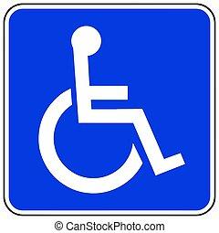 accessible, toilette, symbole genre, symbole., handicapé, vecteur, facilities., unicode., format.