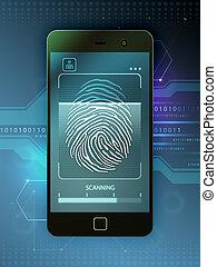 accesso, controllo, biometric