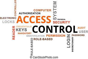 accesso, controllo, -, nuvola, parola