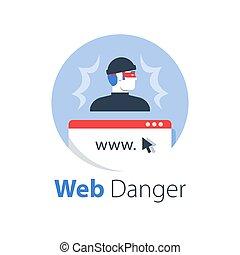 accesso, sicuro, internet, cyber, sicurezza, crimine, antivirus, linea, software