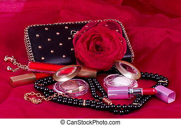 accessoire, femme, cosmétique