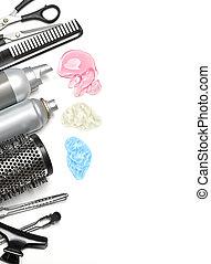 accessoires, coiffeur