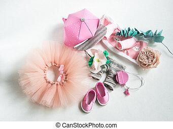 accessoires, fait main, vêtements, chaussures, poupée
