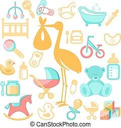 accessori, bambino, neonato