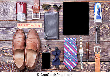 Accessories and Father's Day card.