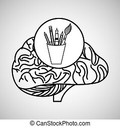 accessories brain school knowledge