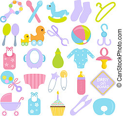 Accessories for Mom and Baby - A vector collection of...