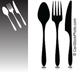 accessories for the dining vector silhouettes
