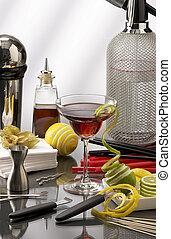 accessories., mini barre, cocktail, mélangeur