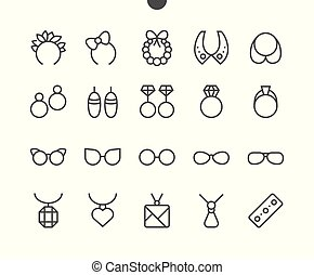 Accessories UI Pixel Perfect Well-crafted Vector Thin Line Icons 48x48 Grid for Web Graphics and Apps. Simple Minimal Pictogram Part 2-3