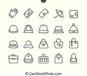 Accessories UI Pixel Perfect Well-crafted Vector Thin Line Icons 48x48 Grid for Web Graphics and Apps. Simple Minimal Pictogram Part 1-3