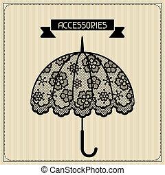 accessories., vendimia, encaje, plano de fondo, floral,...