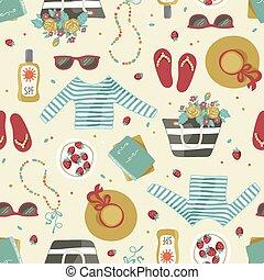 accessories., vestiti estate, modello