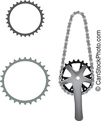 accessory bicycle - accessory pinion with chain