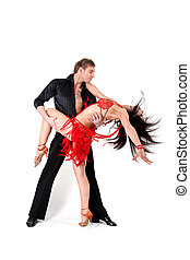 acción, bailarines