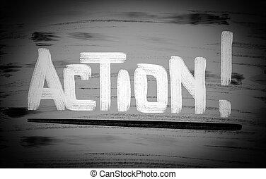 acción, concepto