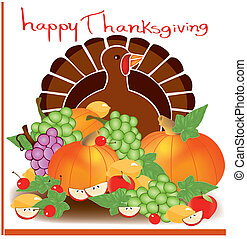 acción de gracias, día, alimento, 2