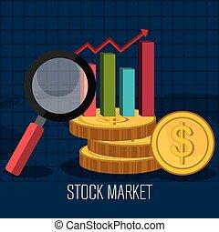 acción, estadística, mercado