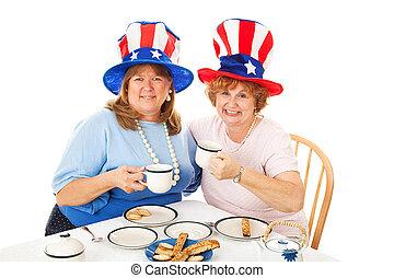 acción, foto, de, partido té, conservatives