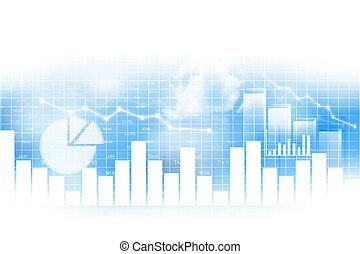 acción, gráfico financiero, plano de fondo, mercado