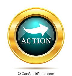 acción, icono
