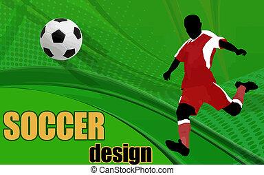 acción, jugador, futbol