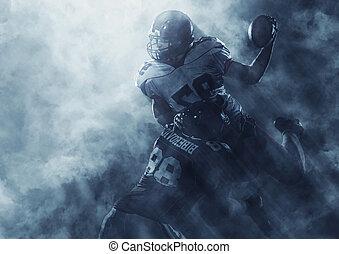 acción, jugadores, fútbol americano