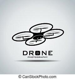 acción, logotipo, vector, cámara, rone