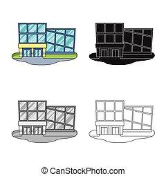 acción, moderno, tienda, objeto, colección, emporio, web., símbolo, símbolo., aislado