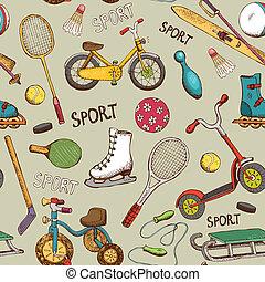 acción, patrón, juegos, deportes