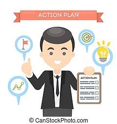 acción, plan., hombre