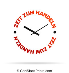 acción, reloj de tiempo
