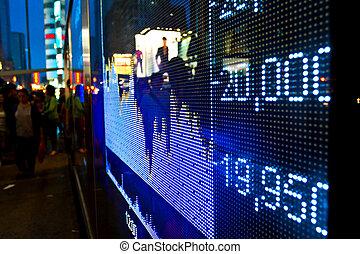 acción, resumen, exhibición, precio, mercado