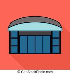 acción, tienda, emporio, símbolo, web., aislado, objeto, colección, signo., ventana